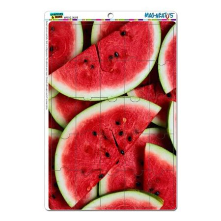 Graphics and More Watermelon Mag-Neato's Novelty Gift Locker Refrigerator Vinyl Puzzle Magnet Set ()