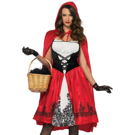 Lil Red Riding Hood Costume (Leg Avenue Women's Classic Red Riding Hood)