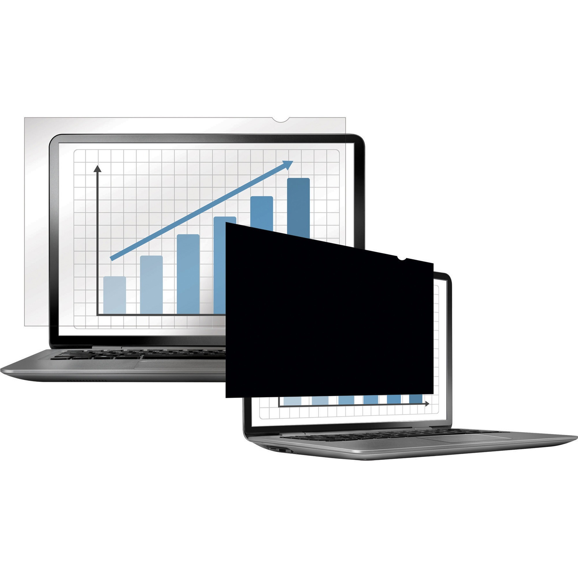 """Fellowes, FEL4812001, 14"""" Laptop Blackout Privacy Filter, 1, Crystal Clear,Black"""