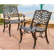 Patio Dining Chair in Bronze Finish - Set of 2