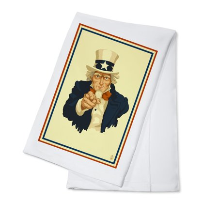 Uncle Sam - I Want You To Vote - Political - Lantern Press Artwork (100% Cotton Kitchen Towel)](Ted Sam Jones)