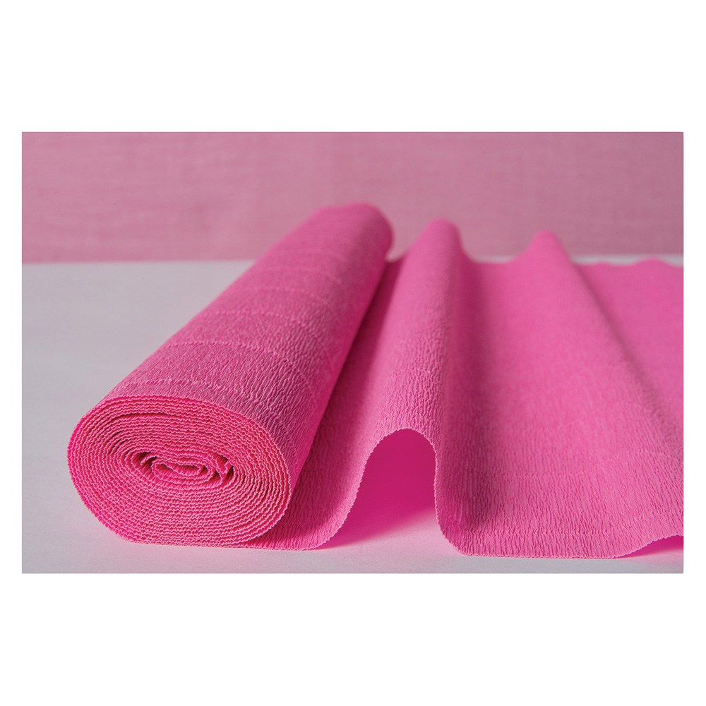 Luna Bazaar Premium Heavy Italian Crepe Paper Roll (20 Inches x 8 Feet, Bubblegum Pink) - For DIY Projects, Table Runners, and Gift Wrapping