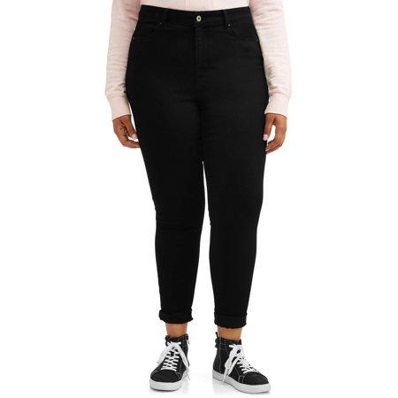 5a7b8c15cbc Wax Jean - Juniors  Plus Size High Waisted Push-Up Skinny Jeans -  Walmart.com
