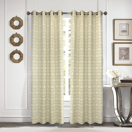 Better Homes & Gardens Moroccan Trellis Curtain Panel, multiple colors and sizes