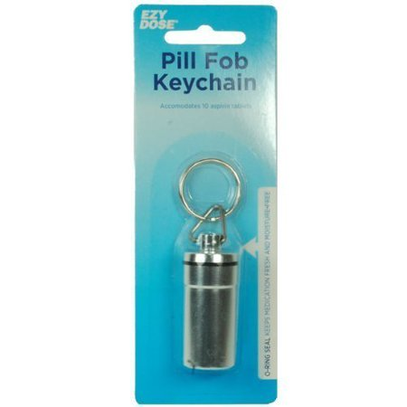 Apothecary Waterproof Airtight Pill Fob- Silver Color (3UNITS)