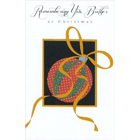 Freedom Greetings Ornament with Gold Ribbon: Brother Christmas