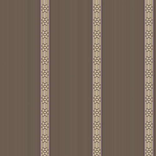 York Wallcoverings Ashford Oriental Banding 33' x 20.5'' Stripes Distressed Wallpaper