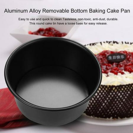 4/5/6/7/8/9/10/11/12 Inch Aluminum Alloy Removable Bottom Baking Cake Pan - image 4 de 8