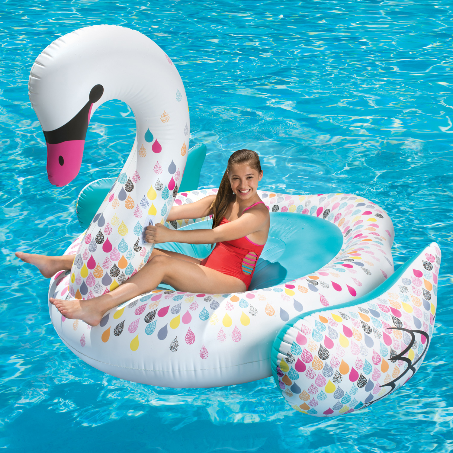 Awesome Play Day Giant Inflatable Swan Pool Float   Walmart.com