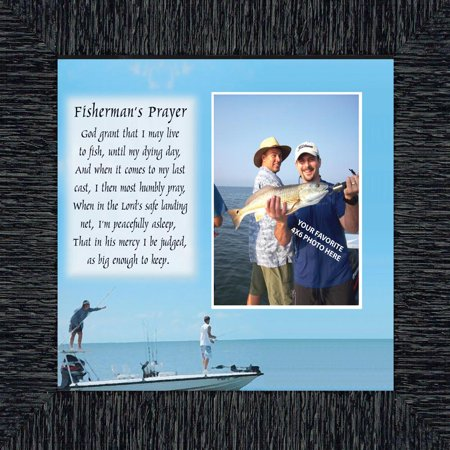 Fisherman's Prayer, Fishing Gifts,  Beach, Boating or Fishing Decor, Personalized Picture Frame, 10X10 9703 ()