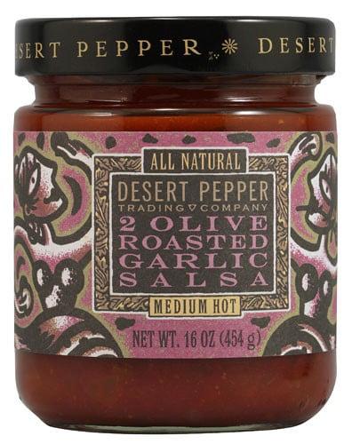 Dessert Pepper Salsa, Two Olive Roasted Garlic, 16 Oz by Desert Pepper