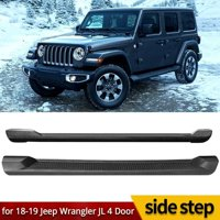 For 2018-2019 Jeep Wrangler JL 4DR Nerf Bar Side Step Running Board Rail ABS