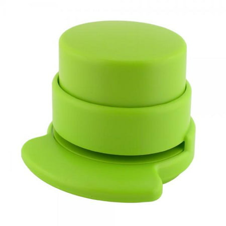 Holder Free Stopper - Made by Humans 447 Eco Staple-Free Round Stapler, Green