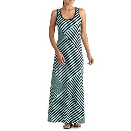 Faded Glory Women S Striped Maxi Tank Dress