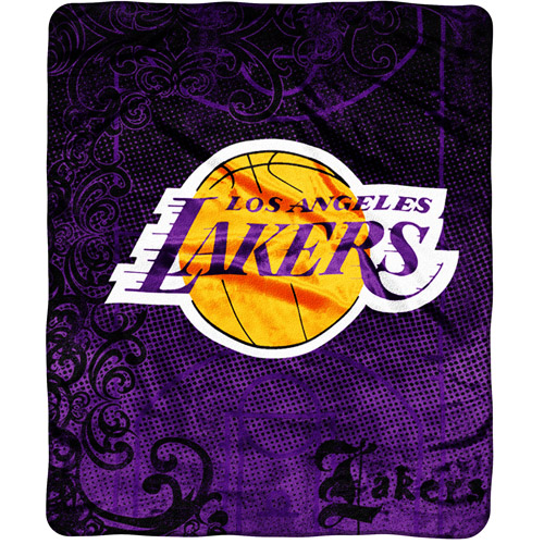 NBA Los Angeles Lakers Micro Raschel Throw
