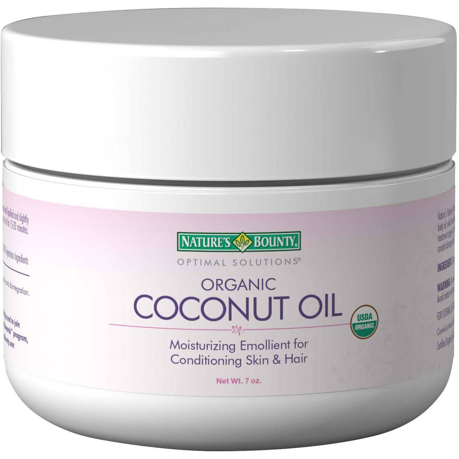 Nature's Bounty Optimal Solutions Organic Coconut Oil, 7 oz