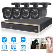 HD 1080N 4CH Full 720P AHD DVR Security System 1TB Hard Drive 4* Outdoor Camera