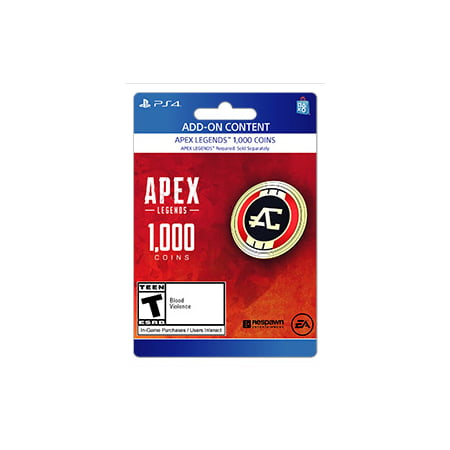 Apex Legends™ – 1,000 Apex Coins, Electronic Arts, Playstation, [Digital Download] (Alex Games)