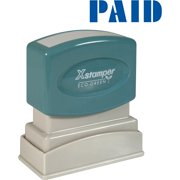Xstamper, XST1335, Blue PAID Title Stamp, 1 Each