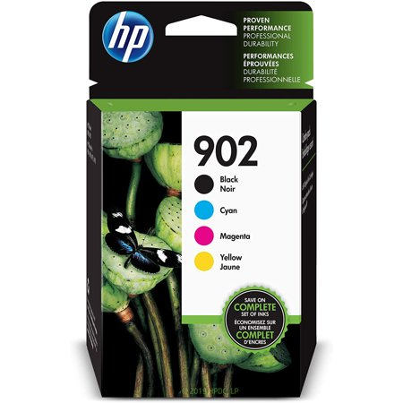 HP 902 Ink Cartridges - Black, Cyan, Magenta, Yellow, 4 Cartridges (X4E05AN)