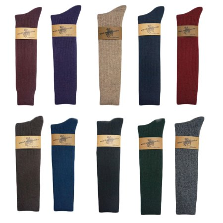 Lian LifeStyle Women's 1 Pair Knee Length Knitted Wool Socks stripped Size 7-9