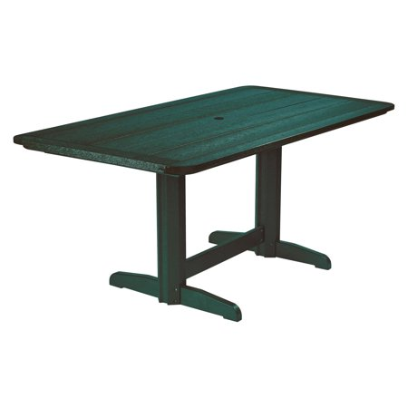 Wilshire Pine Rectangular Dining Table (CR Plastic Generations Double Pedestal Dining Table)