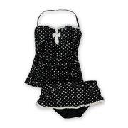 Profile Womens Polka Dot Ruffle 2 Piece Bikini