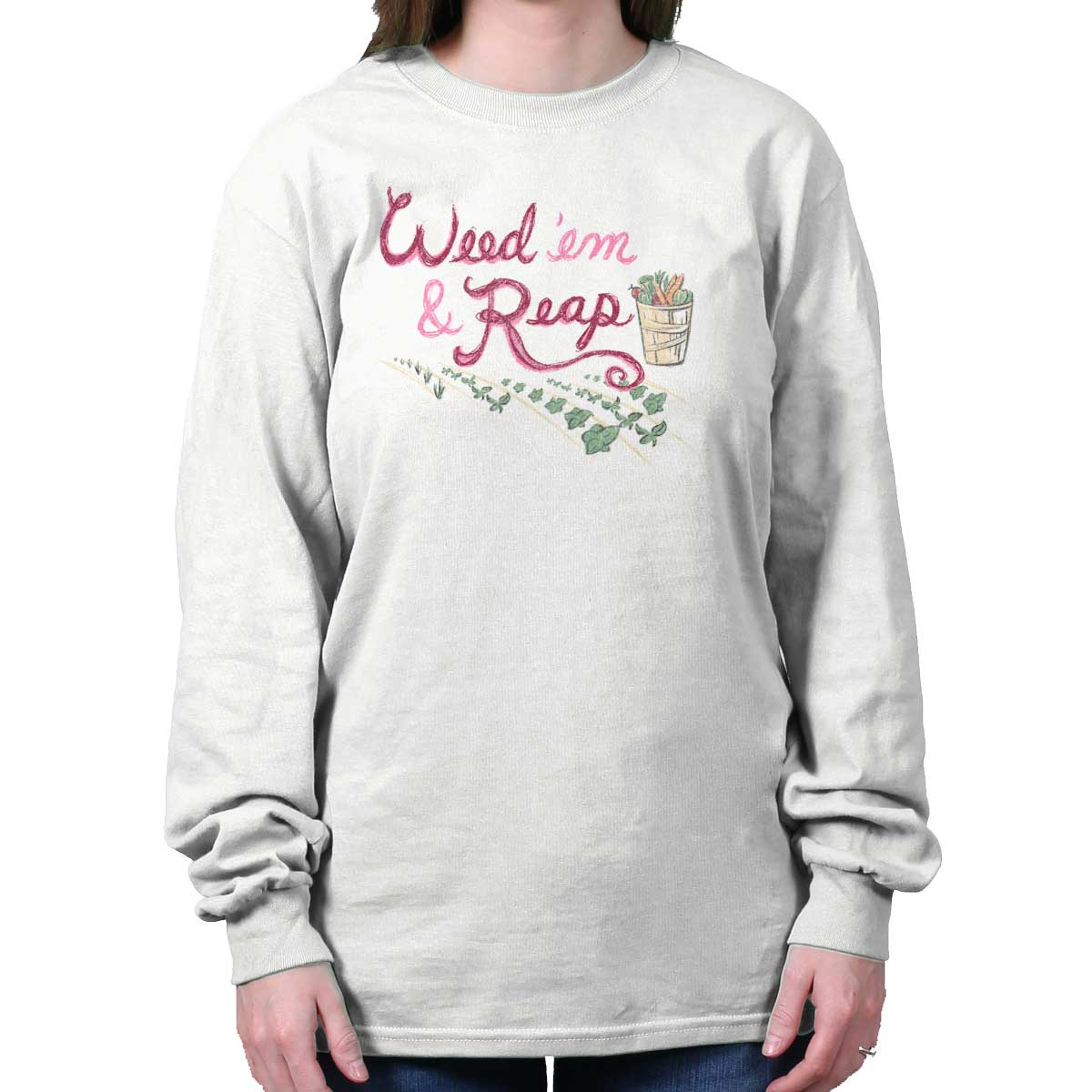 Weed and Reap Home Garden Shirt Gardening Gift 420 Blunt Cool Long Sleeve Tee