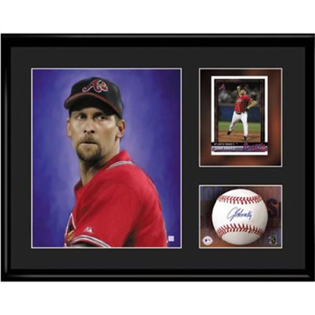 Toon Art TNA-12457 Atlanta Braves MLB John Smoltz- Limited Edition Toon Collectible With Facsimile Signature.
