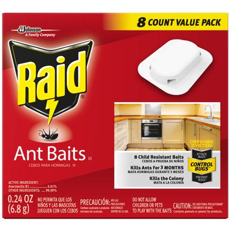 Raid Ant Baits III, 0.24 Oz (8 Ct)