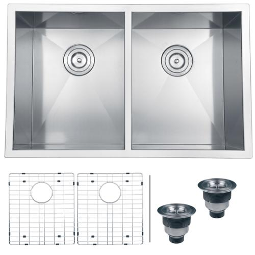 Brilliant 30 Inch Double Bowl Kitchen Sink Undermount D And Ideas