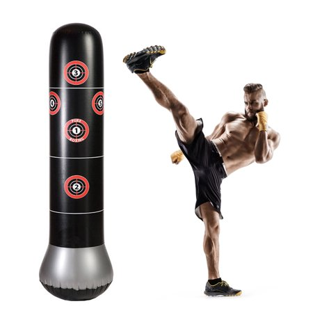Inflatable Punching Gloves (Punching Bag , 5.2ft Fitness Punching Bags for Kids and Adults Freestanding Boxing Target Bag Inflatable Punching Tower)