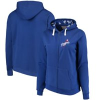 Los Angeles Dodgers Soft as a Grape Women's Plus Size Pennant Race Full-Zip Hoodie - Royal