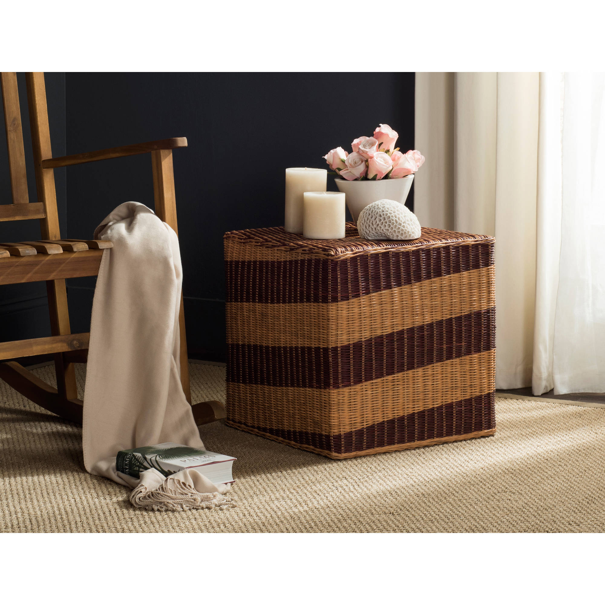 Safavieh Tygo Wicker End Table, Multi