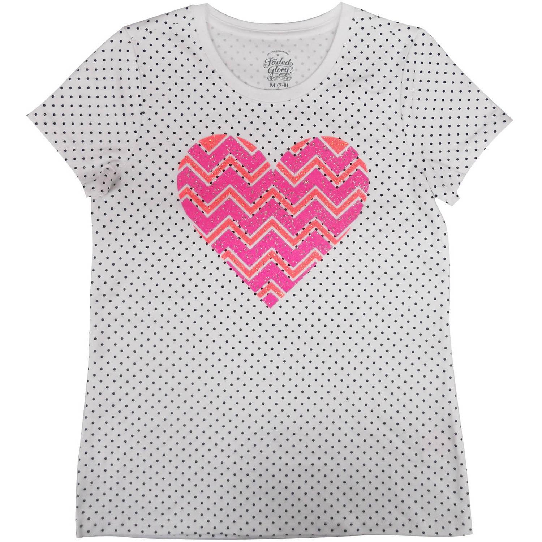 Girls' Embellished Graphic Tee Dot print