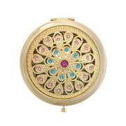 ALICE Gleamy Boutique Golden Compact Mirror, Purse Mirror, Folding Mirror