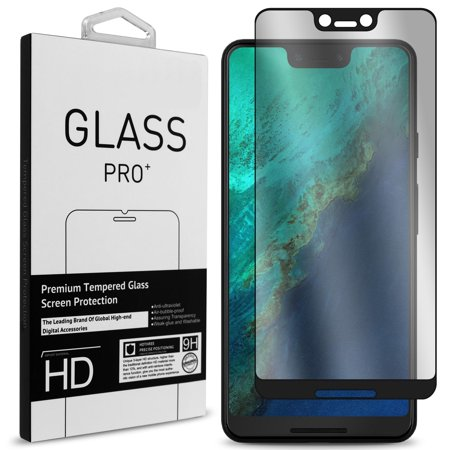 - CoverON Google Pixel 3 XL Tempered Glass Screen Protector - InvisiGuard Series Full Coverage 9H with Faceplate (Case Friendly)