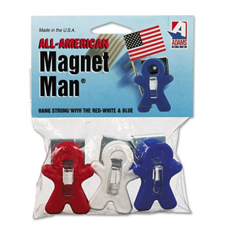 Adams Manufacturing Corp. 3303523241 Magnet Man Clip, Plastic, Assorted Colors, (Adams Plastic Clips)