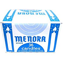 Menora 36 Shabbat Candles For Shabbat & General Use Kosher. 12 Safed Shabbat Candles