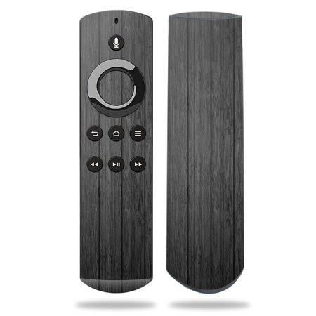 Skin for Amazon Fire TV Remote - Black Wood| MightySkins Protective, Durable, and Unique Vinyl Decal wrap cover | Easy To Apply, Remove, and Change Styles | Made in the USA