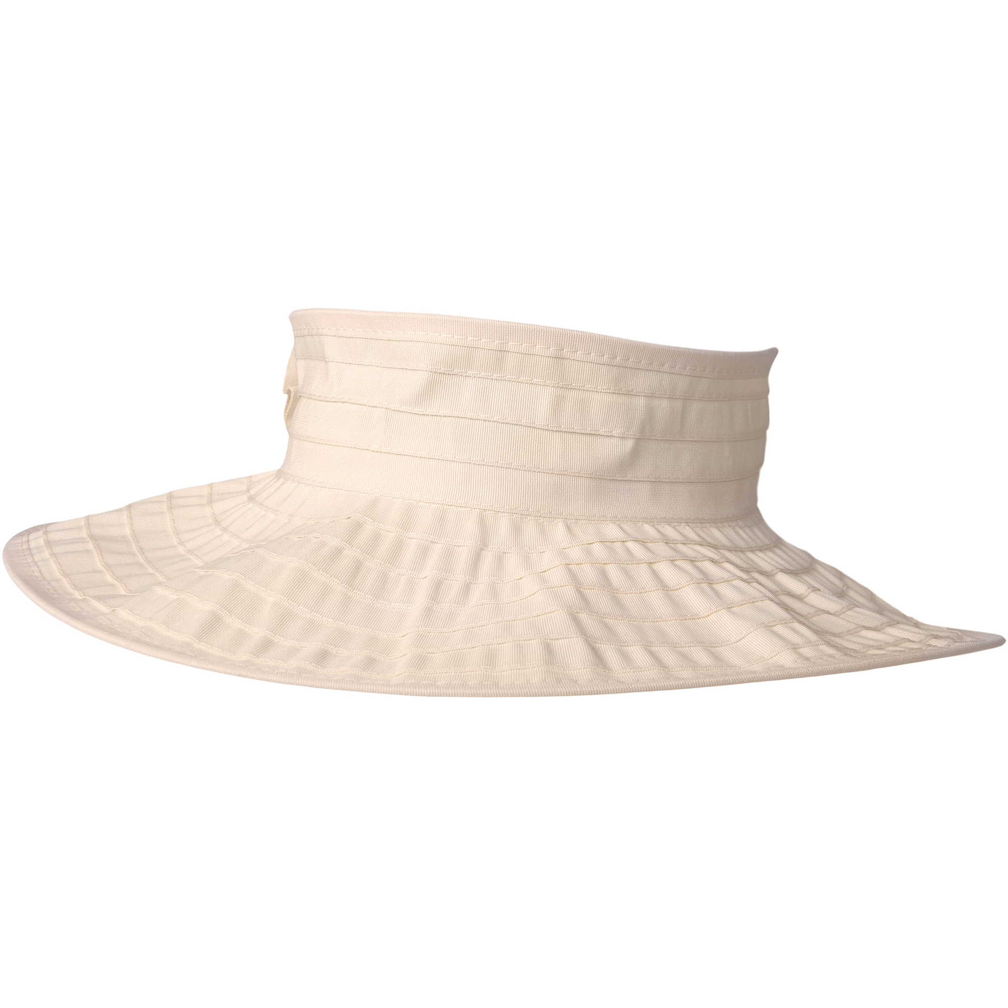 Brinley Co Womens Flower Detail Rolled Visor