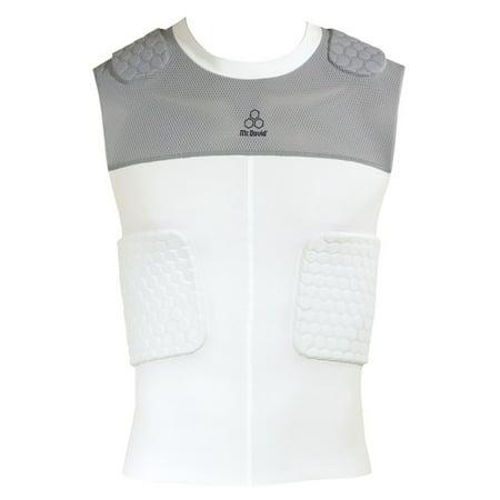 McDavid Classic Logo 7870 CL Hex Pad Mesh Sleeveless 5 Pad Body Shirt-White/Grey - 5 Pad Sleeveless