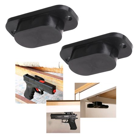 2PACK 25LB Rating Pistol Gun Handgun Magnet Concealed Holder for Desk Bed Car Truck
