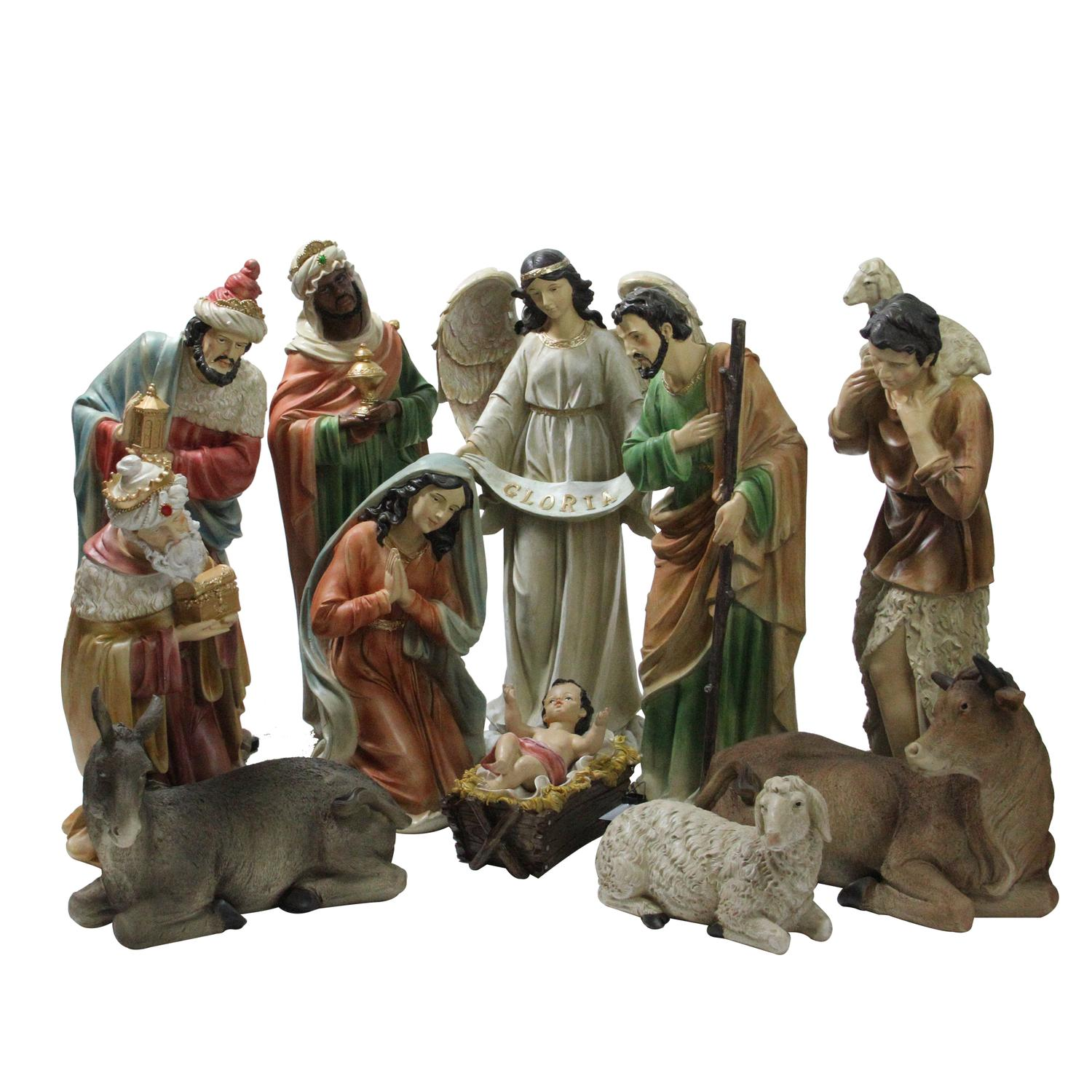 Northlight 11 Piece Tranquil Religious Christmas Nativity Set