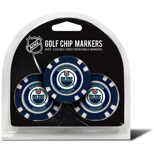 Team Golf NHL Edmonton Oilers 3 Pack Golf Chip Ball Markers
