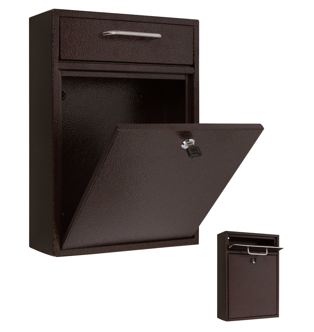 16 5 Quot X 11 5 Quot Wall Mounted Locking Drop Box Mailbox