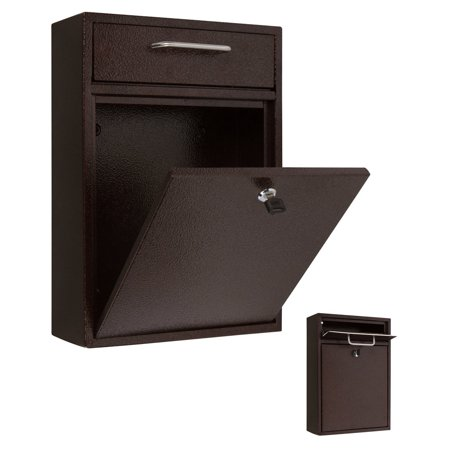 16 5 X 11 Wall Mounted Locking Drop Box Mailbox Large By Trademark Innovations