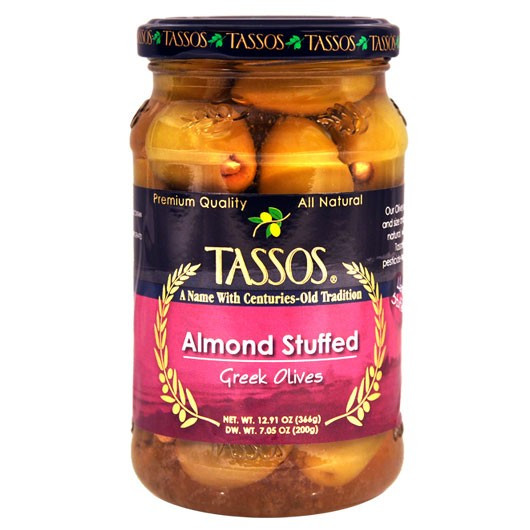 Greek Olives Stuffed with Almond (Tassos) 12.91 oz