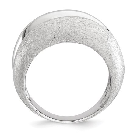 Sterling Silver Polished & Satin Ring Size 6 - image 1 of 3