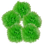 "Just Artifacts 5pcs 10"" Inch Tissue Paper Pom Pom Flower Ball (Color: Green Apple)"